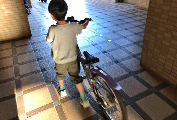 まだまだ大きい子ども用マウンテンバイク