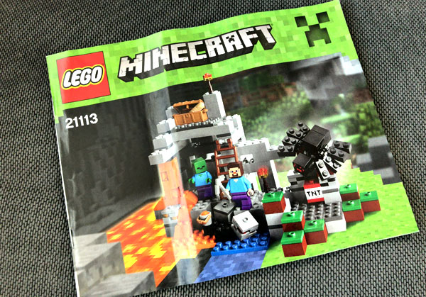 【マイクラ】子どもが大喜びしたマインクラフトのレゴ(ザ・ケイブ 洞窟)_03