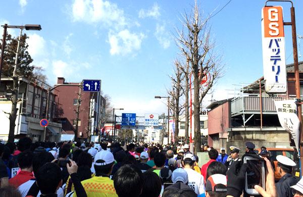 2015年青梅マラソンのスタート地点