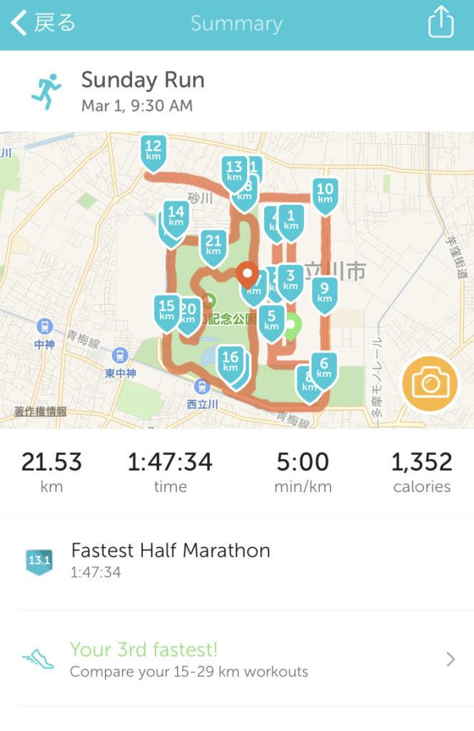 【立川シティハーフマラソン2017】準備と目標タイムについて