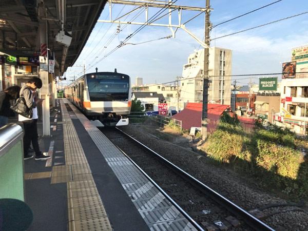 日野駅と中央線
