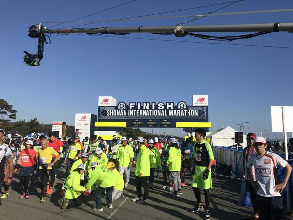 湘南国際マラソンのゴール
