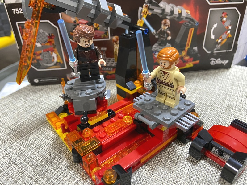 【スター・ウォーズのレゴ】ムスタファーの戦いをプレゼントしました